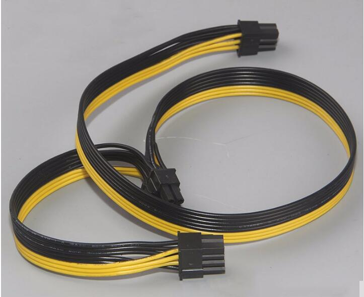 Module 6Pin to Dual PCI-E PCIe 8Pin ( 6+2Pin ) Power Ribbon Cable 50cm for COOLER MASTER Dragon Shadow 1200W PSU Power Supply