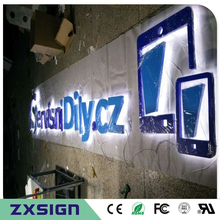 Letter-Sign Outdoor Back-Lit Factory-Outlet Stainless-Steel Advetising Logo LED for In-Powdered
