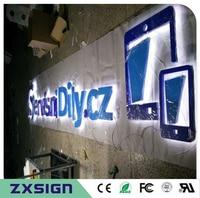 Factory Outlet Stainless Steel LED Back Lit 3D Letter Sign Logo