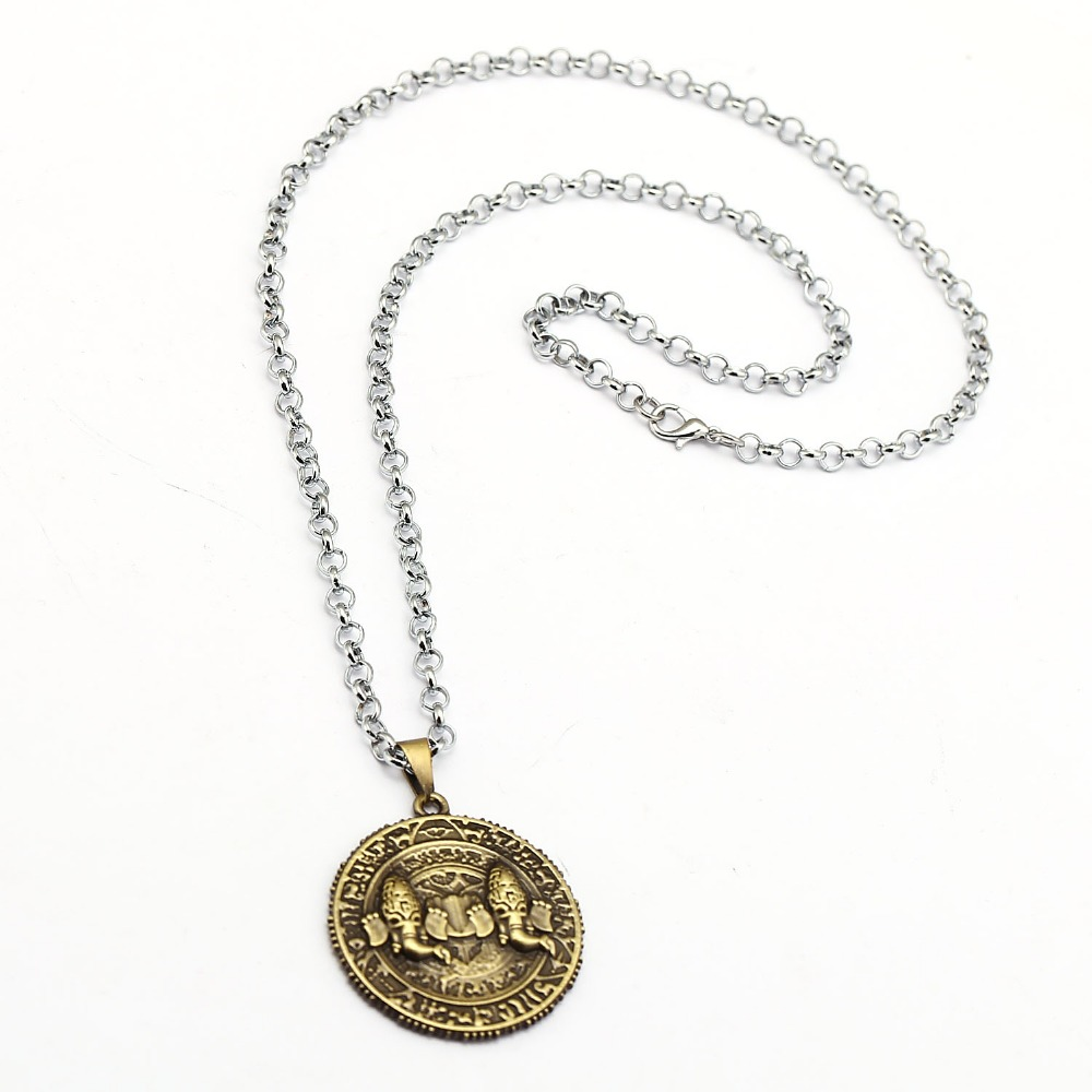 Game PS4 Uncharted 4 Necklace A Thief's End Metal Pendant Choker Gold Coin Vintage Collar Accessory Steampunk