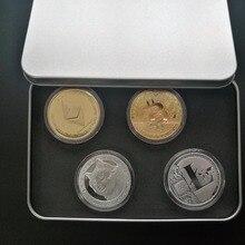 Новое поступление 4 шт. комплект упаковки Американский Биткоин Litecoin эфириум DogeCoin золото или серебро памятная Коллекционная монета