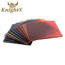 KnightX מלא כיכר בוגר עדשת מצלמה צבע ND מסנן Cokin P סדרת עבור nikon canon d3100 t3i t5i T6i 700d d5500 1100d
