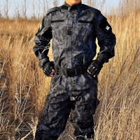 New arrival Kryptek Typhon Black camouflage military uniform BDU Army Military uniform combat sets hunting suit