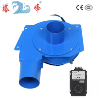 80w 60mm nozzle hot air smoke gas exhausting snail centrifugal ventilation fan blower DC12v with speed controller