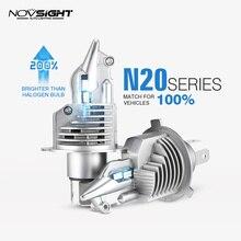 1:1 дизайн NOVSIGHT H4 светодиодный H7 H11 H16JP 9005 9006 9012 P13 PSX24W PSX26W 50 Вт 10000LM 6500 к туман светильник