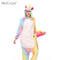 Animal Kigurumi Unicorn Onesie Adult Kids Flannel Warm Anime Disguise Pajama Panda Totoro Sleeping Cosplay Nightgown