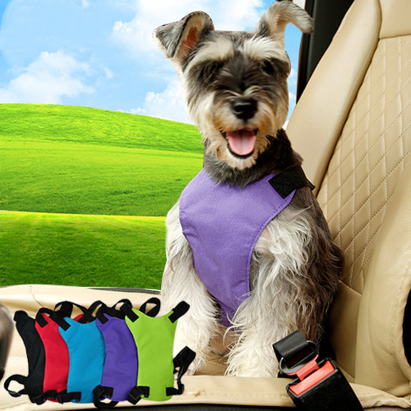 Safety Dog Harness Seat Belt Delicate Puppy Car Vest Harnesses Adjustable Pet Puppy Pup Hound Vehicle Seatbelt Lead Leash