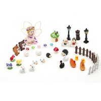 47Pcs DIY Craft Decorative Miniature Decoration Ornament Potted Plant Craft Fairy Home Garden Accessories