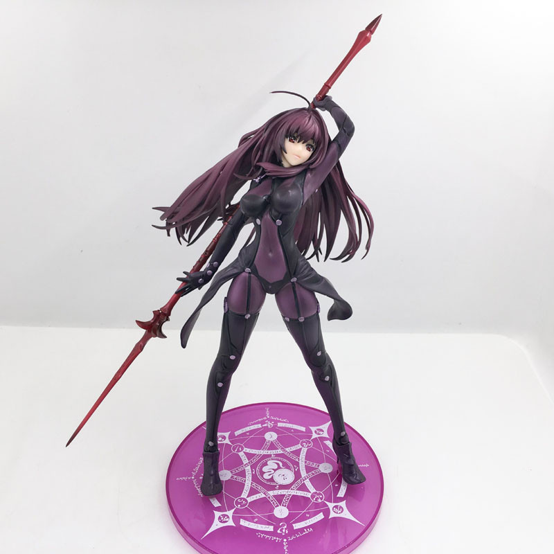 все цены на Anime Figure Lancer Scathach Fate Grand Order Lancer Scathach 1/7 Scale PVC Action Figure Collectible Model Toy figuras a escala онлайн