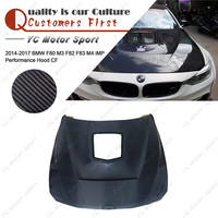 Car Accessories Carbon Fiber iMP Performance Style Hood with Glass Fit For 2014 2017 F80 M3 F82 F83 M4 Hood Bonnet Cover