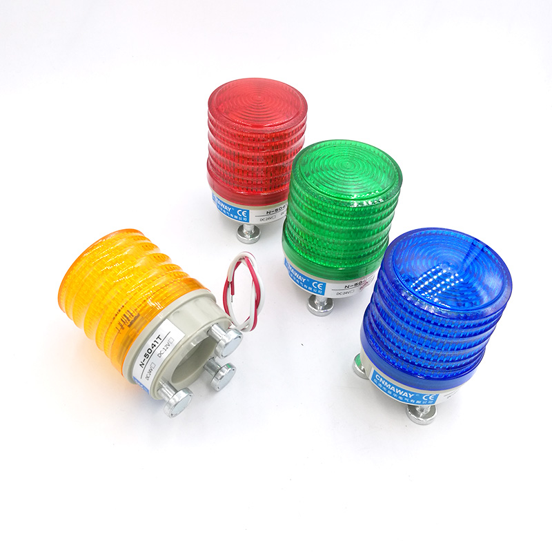 N-5041T Magnetic Indicator Light Siren Horn Warning Light LED Lamp Small Flashing Light Security Alarm 12V 24V 220V