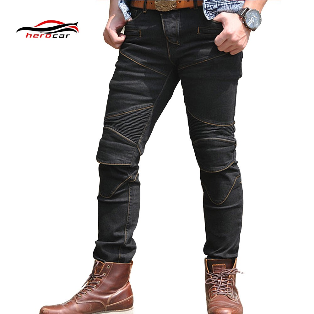 New Motorcycle Pants Men Moto Jeans Protective Gear Riding Touring Motorbike Trousers Motocross Enduro Pants Pantalon Moto Pants distressed blue jeans men latin cow brand clothing mid stripe luxury denim destoyed men s moto biker jeans ripped uomo 802 c