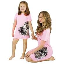 Платье для мамы и дочери розовое платье с блестками в форме