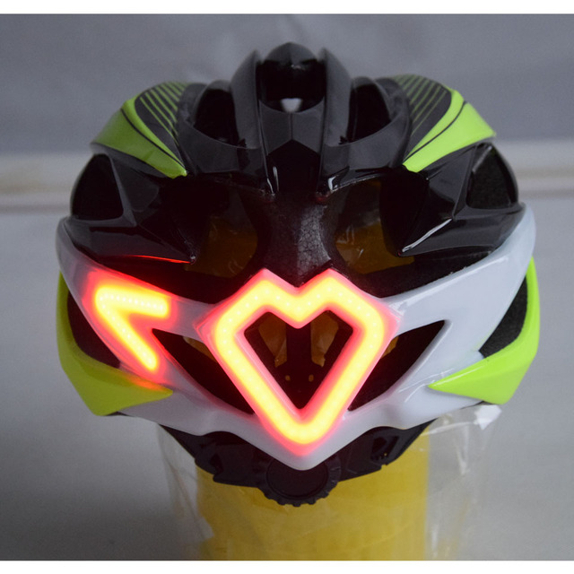 Cycling Motorcycle Helmet with LED Turn light Remote Control+Helmet Integrally-molded Road Bicycle Helmet With LED Warning Light