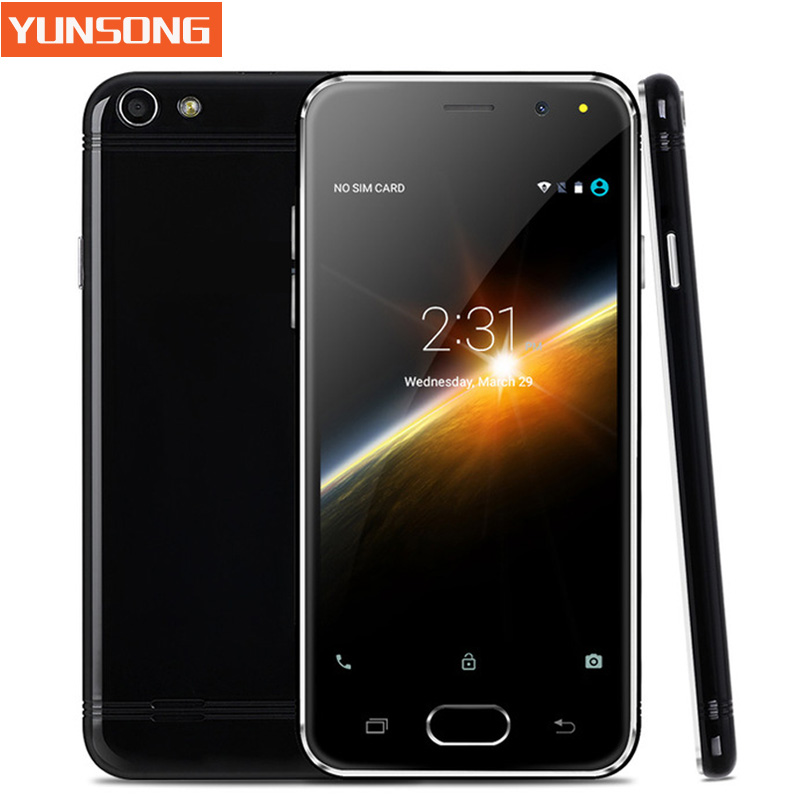 YUNSONG Mobile Phone 4.5 Inch Smartphone Android 5.1 MTK6580 Quad Core Unlock Telephone
