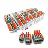 10PCS PCT-212 + 10PCS PCT-213 10PCS PCT-215 2P 3P 5P Universal Compact Wire Connector Conductor Terminal Block