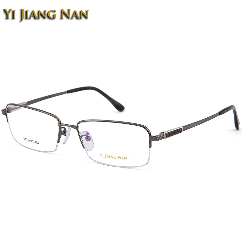 Yi Jiang Nan Brand Men Quality Pure Titanium Light Weight Frame Female Prescription Eyeglasses Frame with Clear Lenses in Men 39 s Eyewear Frames from Apparel Accessories