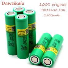 Daweikala 18650 oryginalny 2500 mAh batera recargable 3,6 V dla Samsung INR 1865025R 20A de obowiązek w zakresie usługi publicznej de cigarrillos electrnicos