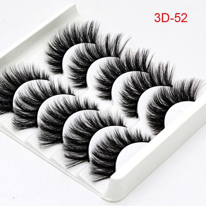 Soft Comfortable Cotton Wire False Eyelashes  Women Stereo Multi-layer Lashes Makeup Tools Ladies Sexy 3D Fiber False Eyelashes