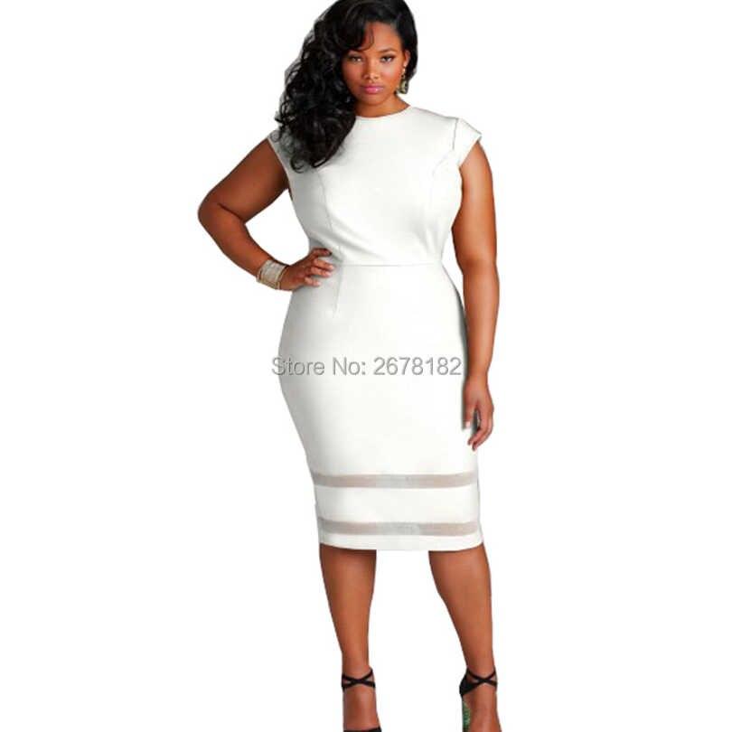 Dress Women Sleeveless Plus Size xxl xxxl 4xl Black Mesh Patchwork Stretch  Bodycon African Casual Party 31c657ce2969