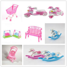 Princess Stroller Cart for BJD Reborn Doll Accessories Furniture Gadgets Interesting Toys Girls Gift(China)