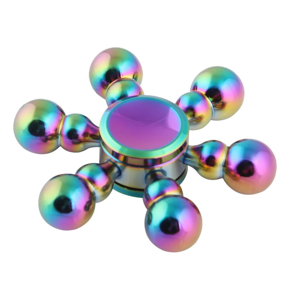 Pure Copper Metal Fidget Spinner Multi Color Bullet Drop Detachable Hand Spinenr 5 8 Minutes EDC