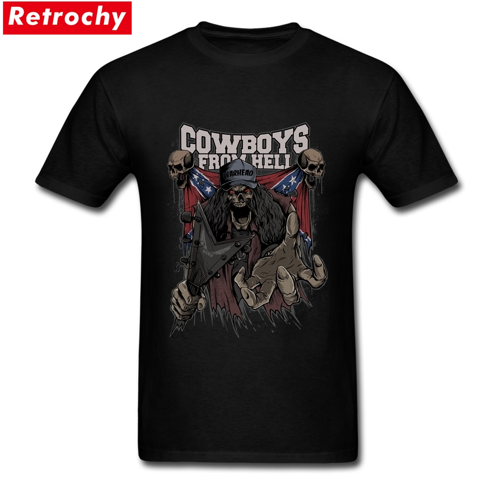 Cowboys From Hell Merchandise Tees Short Sleeves Mens Spandex Cotton Big Size T Shirt