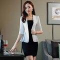 Estilos de moda OL Formais Fino Primavera Verão Professional Business Suits Com Casacos E Conjuntos de Saia Blazer Feminino Salão de Beleza