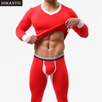 Brand New 1 Set Winter Warm Men Long Johns Soft Thermal Underwear Men Thermo Long Johns