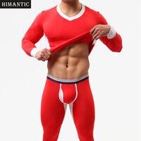 Brand New 1 Set Winter Warm Men Long Johns Soft Thermal Underwear Men Thermo Long Johns