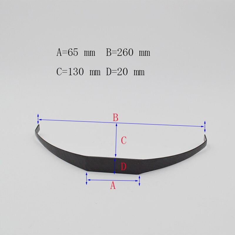 High Quality 1 Piece YAK 30E Carbon Fiber Landing Gear For Electric RC Airplane 65*258*132*20mm 1pcs carbon fiber landing gear for yak 100cc gas rc airplane 19 65 25 2 5cm high quality