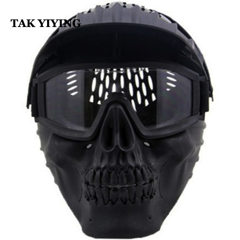 TAK YIYING Tactical Airsoft Mask Anti Fog Paintball Mask Skull Mask Full Face Protection Breathable Eco-friendly Party Decor paintball party mask airsoft wire mesh spectre 1 0 full face mask bd8863