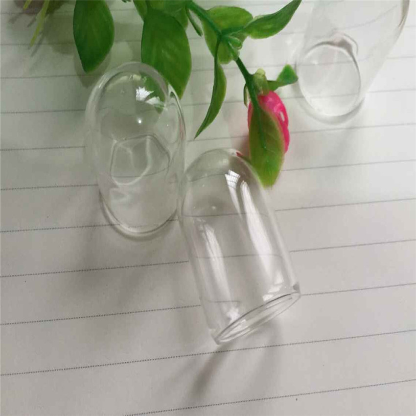 2PCS Fashion Mini Clear Glass Bottle Cover Cabochon Jewelry Making Pendant Earrings  30*20MM Hot