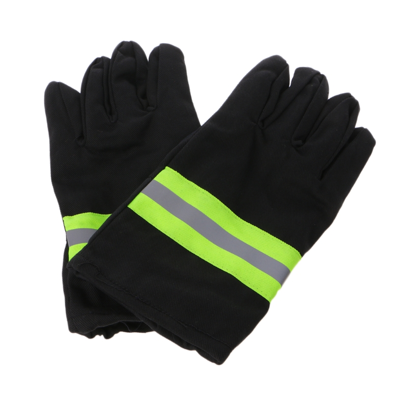 Fire Protective Gloves With Reflective Strap Resistant Flame Safety Equipment firefighter s hand protective equipment fire rescue flame retardant safety gloves with reflective material tape