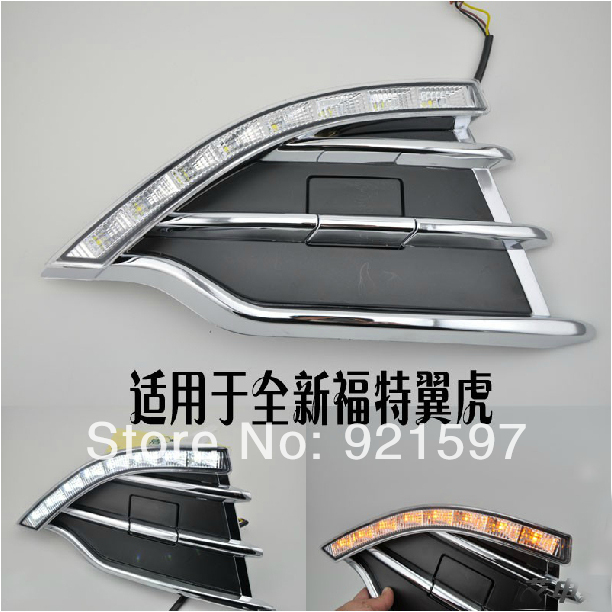 ABS High power Super bright used Ford KUGA Escape 2013-2014 led DRL daytime running light fog lamp cover EMS - Changzhou YiSiTong International Trading Co., Ltd. store