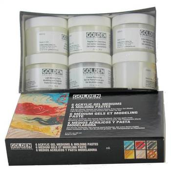 Golden Artist 6 Acrylic Gel Mediums & Moulding Pastes 6x 59ml Pots COMBINED POST