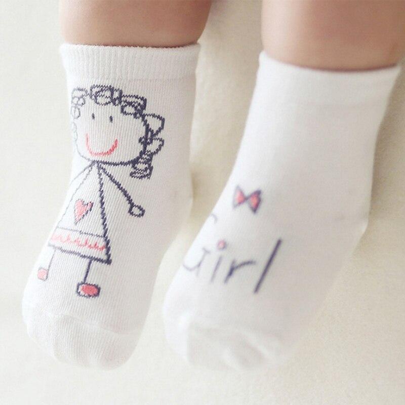 2016 New Spring Baby Socks Newborn Cotton Boys Girls Cute Toddler Asymmetry Anti-slip Character Socks Unisex