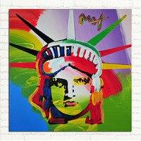 Multicolor POP ART Portretten Handgemaakte Olieverfschilderij Abstract art Voor Hotel Woondecoratie Gratis Verzending