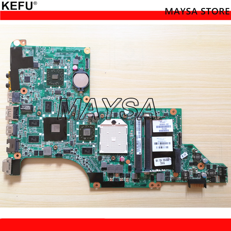 laptop motherboard fit for HP DV6 DV6-3000 series Notebook PC 603939-001 HD 5650 DDR3 Mainboard nokotion da0lx8mb6d0 laptop motherboard for hp dv6 dv6 3000 series 603939 001 mobility radeon hd 5650 ddr3 mainboard