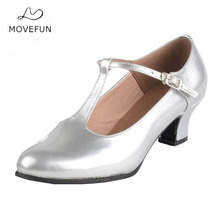 Women's Latin Dance Shoes Females PU Leather Party Ballroom Dancing Shoe Modern Square Dance Shoes Ladies outdoor soles -54