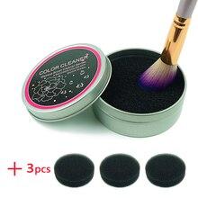 Makeup Brush Cleaner Spons Remover Kleur Uit Brush Oogschaduw Spons Tool Cleaner Quick Kleur Off Make Up Borstels Cleaner