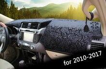 1 шт коврик для приборной панели toyota prado 2010 2017 черный