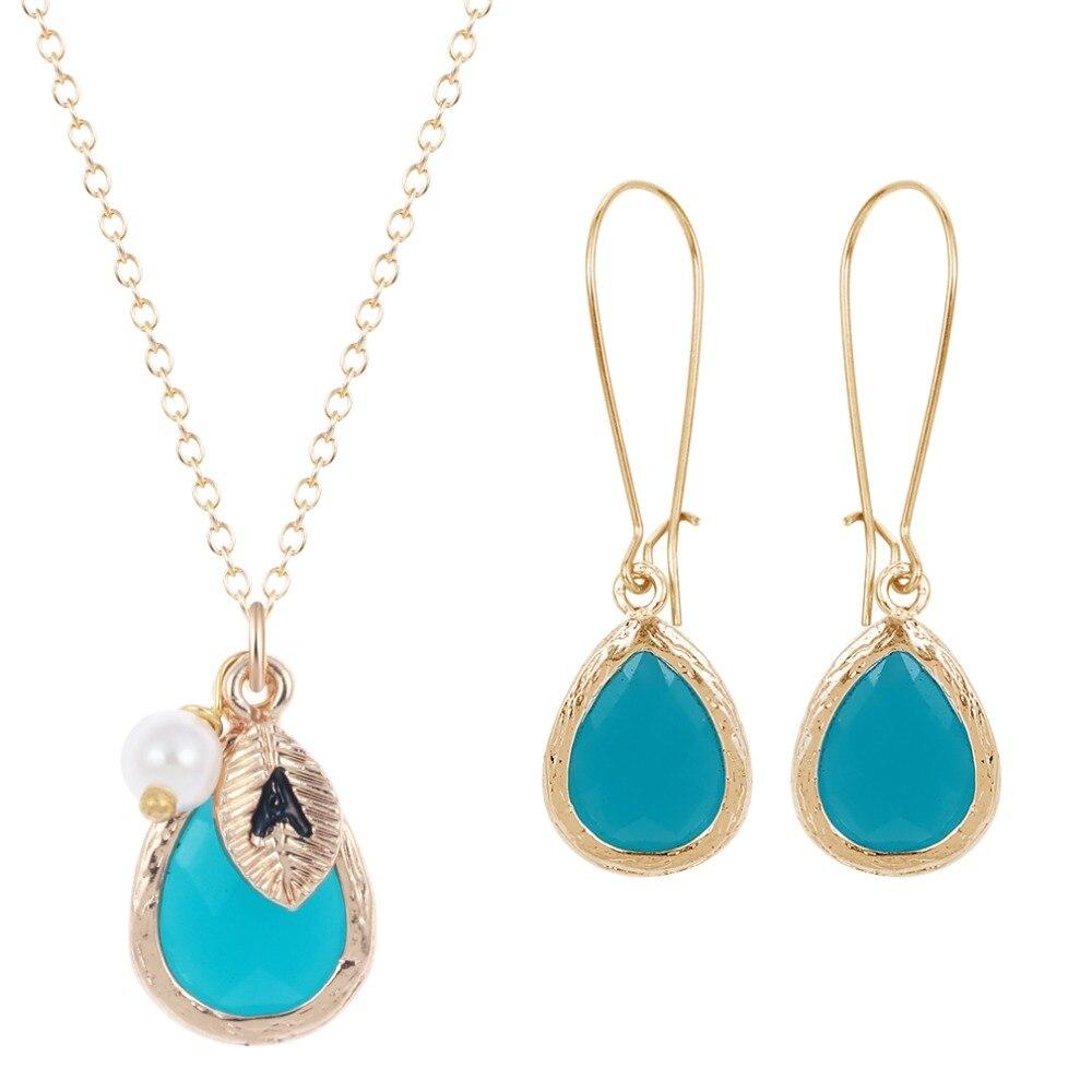 QIAMNI Blue Color Stone Grey Resin Crystal with Imitation Pearls ...