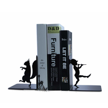 A Pair Creative Pinocchio Metal Bookend Shelf Bookend Holder Office Supplies  Home Decoration Book Stand