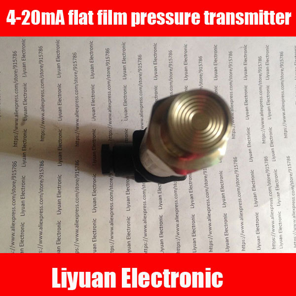 4 20mA düz film basınç verici/0.25 10MPA gömme membran basınç sensörü/M20 * 1.5 sıhhi basınç verici