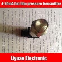 4 20mA flat film pressure transmitter / 0.25 10MPA flush membrane pressure sensor / M20*1.5 sanitary pressure transmitter