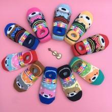 4 pairs / children's socks 2016 autumn and winter thicker coral velvet cartoon silicone slip baby socks 1-6 years boy/girl socks