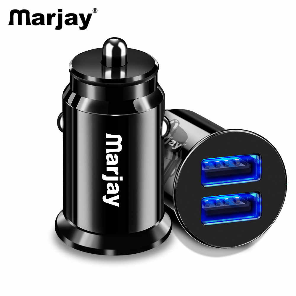 Marjay 3.4A LED Charger Mobil Ganda USB Adapte Mobil Charger untuk iPhone 7X6 S Samsung S9 Xiaomi mi9 Tablet Ponsel Charger Mobil