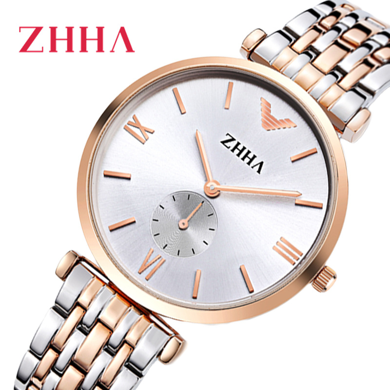 Couple watch quartz gradient dial gold 2019 mens watches clock ladies dress wristwatch fashion for Gradient dial watch