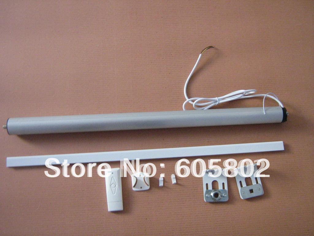 Рулонные шторы с дистанционным управлением, ширина 1,0 м, высота 0,5-2,0 м, Солнцезащитная ткань